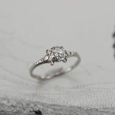 platinum 4.9mm rose cut diamond ring (IOW01)
