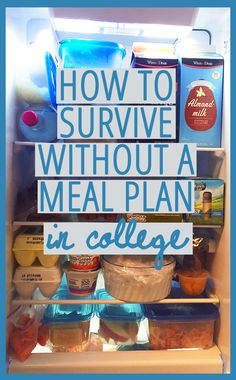 How to survive without a meal plan in college! Inexpensive, easy ways to eat without a meal plan in college! Perfect for dorm living or apartment living! These college hacks and tips will make life easier College Meal Planning, College Cooking, Planning Budget, College Checklist, College Diet Plan, College Essentials, Menu Planning, College House, College Dorm Rooms