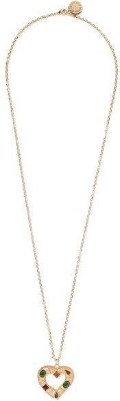 Dolce & Gabbana Gold-tone Swarovski Crystal Necklace
