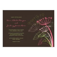 Sweet Pink Dandelions Spring Wedding Invitation  Click on photo to purchase. Check out all current coupon offers and save! http://www.zazzle.com/coupons?rf=238785193994622463&tc=pin