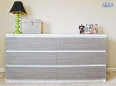 Easy DIY for a kids room using PANYL: specifically made to dress up Ikea and West Elm Furniture. Fool proof vinyl application.