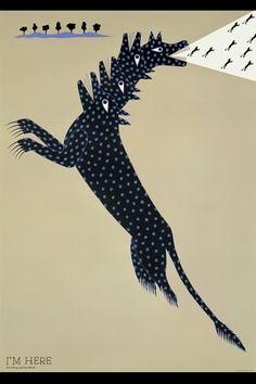 I'M HERE/JAGDA 平和と環境のポスター展(1992年) #KazumasaNagai
