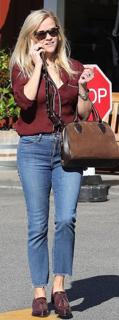 Reese Witherspoon wearing J.Crew and Draper James