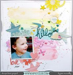 How pretty is this tone on tone layout that designer @janammcc created? Jana used the September 2017 Hip Kits to create this gorgeous layout!