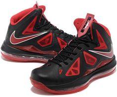 newest c9230 02bc9 Nike Lebron 10 Bred 541100 800 Nike Basketball, New Basketball Shoes, White  Nikes,