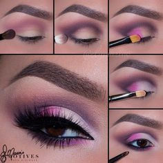 For those of you who maybe wanted to try a little pink. Tutorial by elymarino using motivescosmetics shadows
