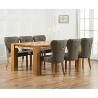 Mark Harris Rustique Oak Extra Large Extending Dining Table and 6 Kalim Grey Chairs - CFS Furniture UK Oak Extending Dining Table, Buy Dining Table, Solid Oak Dining Table, Gray Dining Chairs, Outdoor Dining Furniture, Oak Table, Extendable Dining Table, Dining Set, Provence