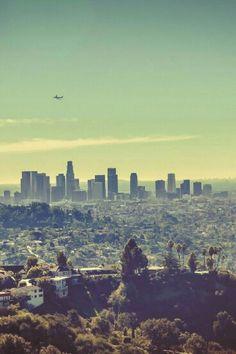Los Angeles Skyline by (Ben K Adams) Pacific Coast Highway, Santa Monica, Places Around The World, Around The Worlds, Beautiful World, Beautiful Places, Los Angeles Skyline, San Diego, Road Trip