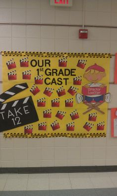 Movie theme-Bulletin Board outside classroom