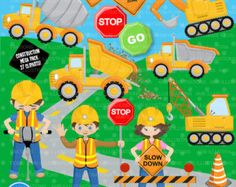 80% OFF SALE Construction clipart Construction by PremiumClipart