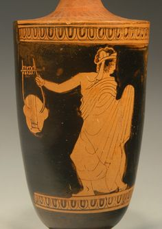 Attic red-figure lekythos from the Group of Palermo 16 Greek Men, Greek Pottery, Picture Story, Ancient Greece, Palermo, Attic, Vases, Roman, Museum