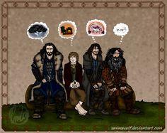The Hobbit: Telepathy by aminawolf.deviantart.com on @deviantART. Omg Kili's thoughts! xD