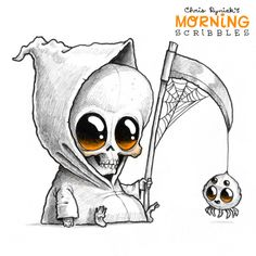 dibujos a lapiz faciles Chris Ryniak erstellt Friendly Monster Drawings! Pencil Art Drawings, Art Drawings Sketches, Kawaii Drawings, Cartoon Drawings, Easy Drawings, Weird Drawings, Halloween Tattoo, Halloween Art, Cute Halloween Drawings