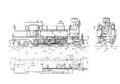 Steam Locomotive Diagram Illustration Schematic