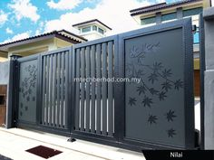 PREMIUM COLLECTION Fully Aluminium Auto Gate System Selangor, Petaling Jaya (PJ), Kuala Lumpur (KL), Malaysia Renovation, Service, Design | MTech Construction Sdn Bhd Iron Main Gate Design, Gate Wall Design, Home Gate Design, House Main Gates Design, Main Entrance Door Design, House Front Design, Railing Design, Main Grill Gate Design, Entrance Gates
