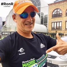 Thanks for the new workout gear Jose Noblejas, love my hat and Madrid Marathon shirt. Is that the one you wore #RonR on your shirt?   #NoLetUp! — at Angel, London.