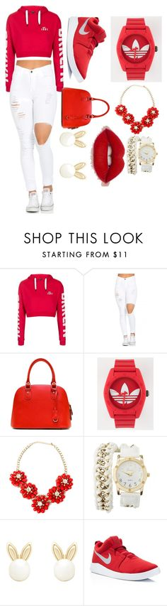 """Untitled #119"" by fashea ❤ liked on Polyvore featuring Topshop, adidas, Charlotte Russe, Lipsy and NIKE"