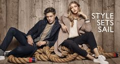 Francisco Lachowski and Gigi Hadid modeling Tommy Hilfiger 2016 Welcome to America collection.