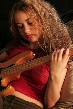 Tal Wilkenfeld, bass player for Jeff Beck -the most fantastic and inventive player I've ever seen