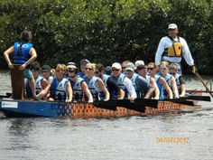 Hammered Dragons Dragon Boat Practice for War on the Peace in Punta Gorda, Florida