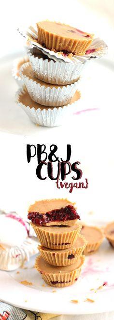 WE ♥ THIS!  ----------------------------- Original Pin Caption: vegan pb&j cups (sugar free!) | love me, feed me