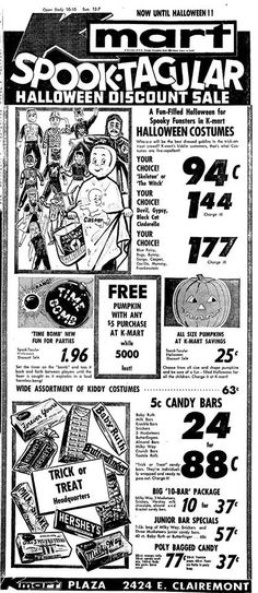 Boys And Ghouls Boys And Ghouls A Horror Movie Podcast Hosted By A Warm And Engaging Duo 1964 Kmart Halloween Ad