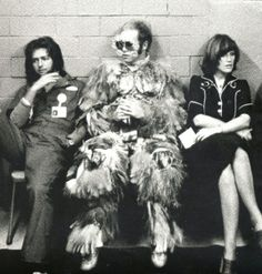 Elton John backstage with Kiki Dee