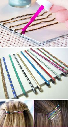 Paint Your Bobby Pins | 23 Life Hacks Every Girl Should Know | Easy Organization Ideas for Bedrooms: