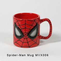 Spiderman Mug Rose Rose Rose Sleme Pottery Painting, Ceramic Painting, Ceramic Art, Cute Polymer Clay, Fimo Clay, Spiderman, Biscuit, Color Me Mine, Disney Cups