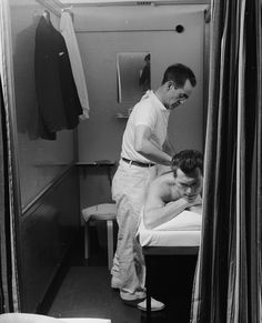 Vintage massage therapy.