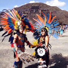 Danza en Teotihuacán.