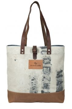 military army canvas leather tote bag