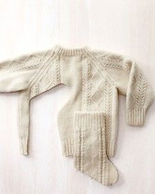 Make Christmas stockings out of an old or thrift store sweater.
