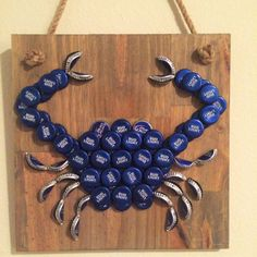 Bud Light Bottle Cap Blue Crab by TheTipsyTiger on Etsy