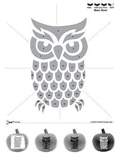 Owl Pumpkin Stencil from Sweet Creations. PNT003.jpg 612×792 pixels More