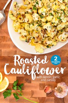 The Ides Of March has arrived, but if you're like us, you're more interested in the Sides of March! First up is fragrant Roasted Cauliflower for 2 SmartPoints--perfect for when you want to save room for Easter goodies. Keep an eye out for more recipes to come!