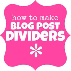 How to Create a Post Divider - Something Swanky