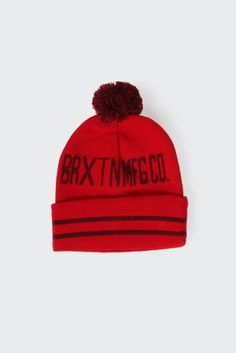 GOOD AS GOLD | Online Clothing Store | Mens & Womens Fashion | Streetwear | NZ — Quin Pom Beanie, red
