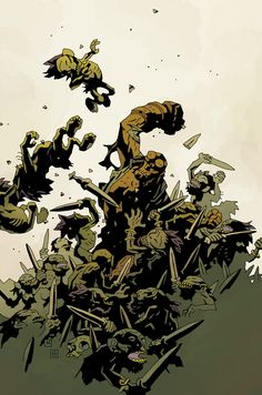 Mike Mignola: Hellboy: The Wild Hunt Comic Book Artists, Comic Artist, Comic Books Art, Paranormal, Mike Mignola Art, Hq Marvel, Bd Comics, Hellboy Comics, Dark Comics