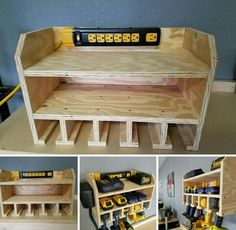 Power tool recharging station