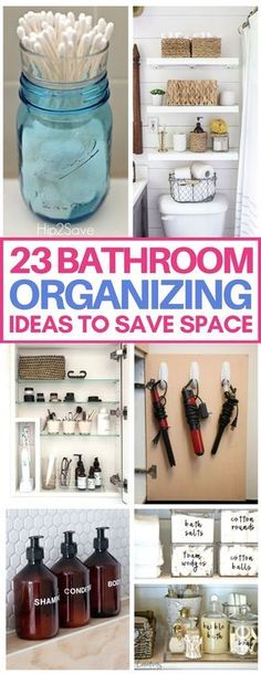 These small bathroom organization hacks are brilliant and will save so much space in my apartment's tiny bathroom! Love the bathroom organizing ideas including storage solutions for toiletries, hair tools, and beauty products. #bathroom #organization