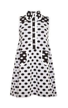 Shop Polka-Dot Cotton-Jacquard Knit Dress by Vivetta Now Available on Moda Operandi