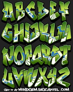 Image of Graffiti Font - Lush - letters - Graffiti Lettering Alphabet, Graffiti Alphabet Styles, Graffiti Text, Graffiti Designs, Graffiti Characters, Graffiti Drawing, Street Art Graffiti, Creative Lettering, Letter Art