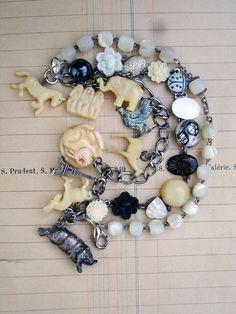 Paula Montgomery – 3 Strands Bracelet in Creams, Blacks and Whites