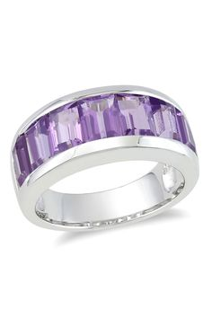 4.2ct Amethyst & Sterling Silver Ring