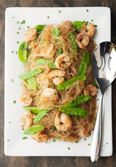 pan-seared sichuan shrimp with glass noodles recipe   use real butter
