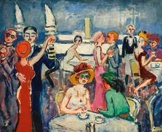 Kees van Dongen Deauville 'Joie de vivre', Oil on canvas, Private collection Henri Matisse, Art Fauvisme, Maurice De Vlaminck, Art Psychology, Dance Paintings, Van Gogh Museum, Dutch Painters, Art Prints For Sale, Dutch Artists