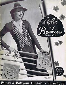 Vintage Knitting Patterns 30s Cardigans Dress Blouse Coats Suits Patons Beehive | eBay