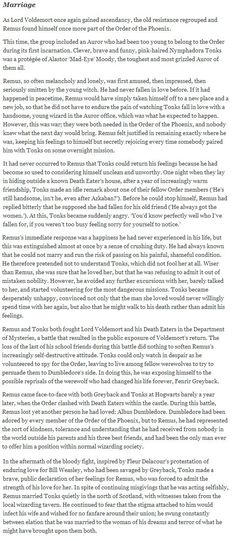 Oh No They Didn't! - Pottermore Post: Remus Lupin's Biography Revealed