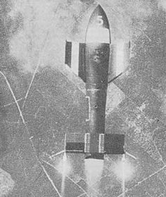 A trial drop of a Fritz-X air launched radio-controlled bomb. Fritz-X bombs were responsible for the sinking of the Italian battle ship Roma, not long after the Italians surrendered, rejoined the war on the allied side. Ww2 Aircraft, Military Aircraft, Luftwaffe, Weapon Of Mass Destruction, History Online, Aircraft Design, Military Weapons, Panzer, War Machine